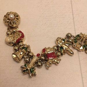 Vintage Jewelry - Vintage Holiday Charm Bracelet